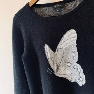 50 % Wool / Sweater/ with Butterfly